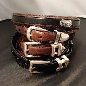Lot of 3 Golf Belts 2 Greg Norman 40 & Onyx 42.